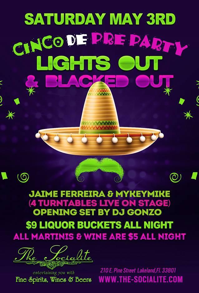 CINCO de PRE PARTY w/ Dj's Mykeymike, Jaime Ferreira, & Gonzo