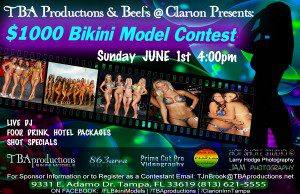 TBAproductions Summer Kick-Off Bikini Model Contest June 1st