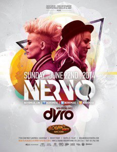 Sat. June 22nd - NERVO Live at Hogan's Beach Tampa w/ special guest Dyro