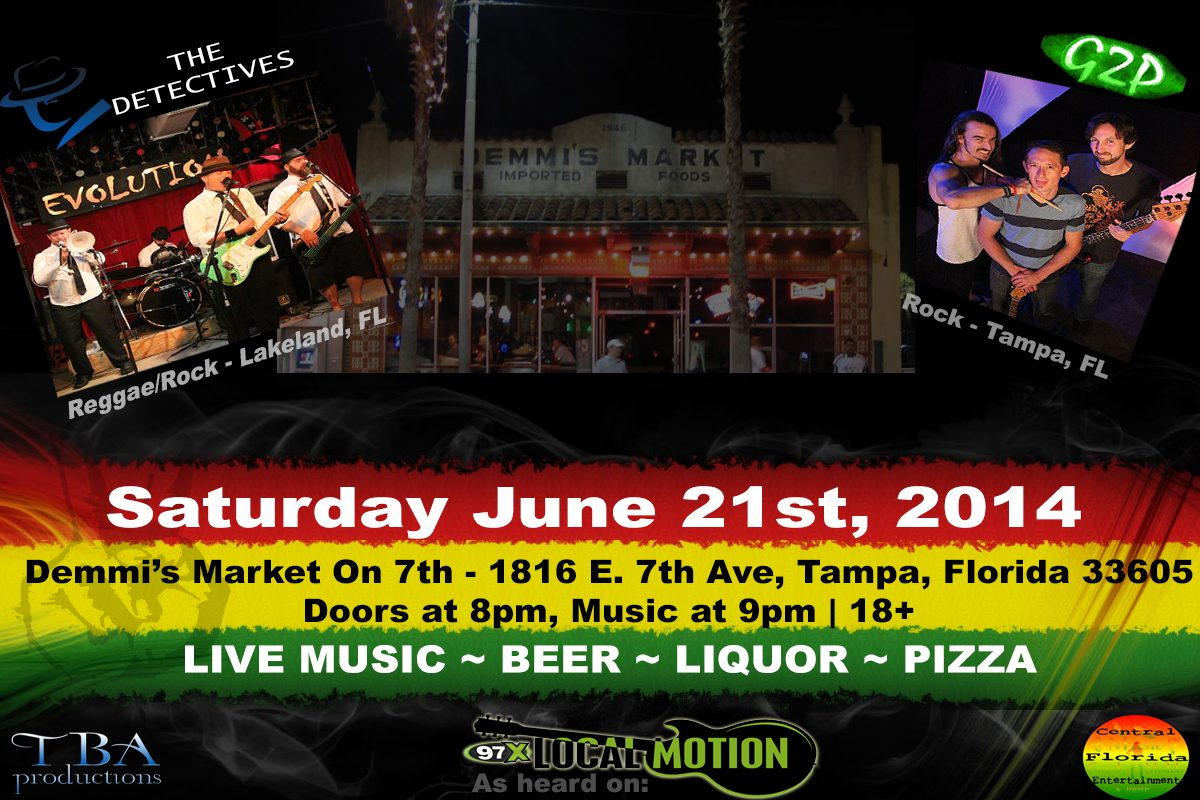 Sat. June 21st Live at The Market on 7th with G2P