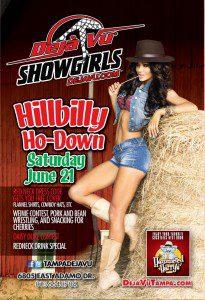 Sat. June 21st : Hillbilly Ho-Down Daisy Dukes Contest at Tampa Dejavu