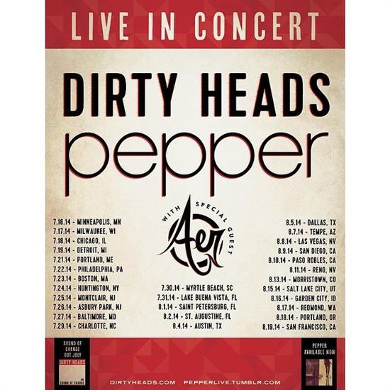 dirty pepper tour