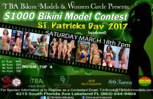 Sat. Mar. 18th - TBA Bikini Models St. Patricks Day $1000 Bikini Contest