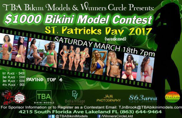 Sat. Mar. 18th - TBA Bikini Models St. Patricks Day $1000 Bikini Contest