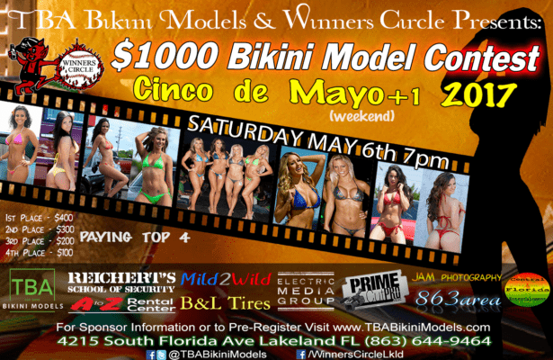 Sat. May 7th - TBA Bikini Models Cinco de Mayo 2017 Bikini Contest at Winners Circle